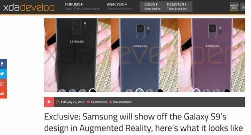 真会玩!三星拟用AR技术公开Galaxy S9