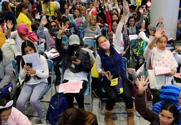 大量菲佣归国 菲律宾禁止向科威特输出女佣