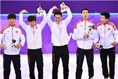 中国男子短速接力银牌 创造历史最好成绩