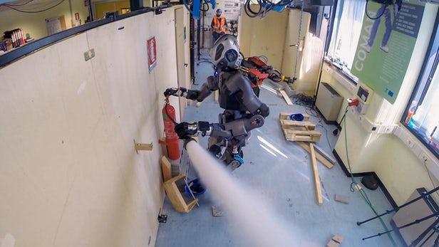 减重提速:IIT测试新版WALK-MAN消防机器人