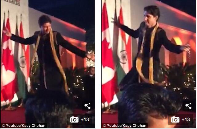 """加拿大总理在印度""""尬""""跳当地舞 网友:谁去提醒一下,他是总理"""