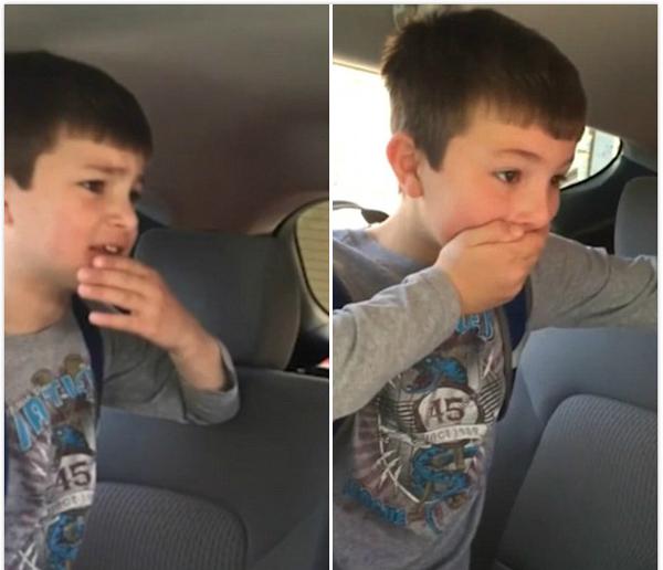 男孩上学时突然被告知去迪士尼 意外过度匆忙跑开
