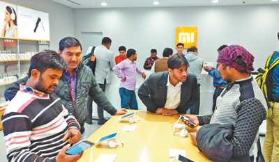 中国手机在印度吸粉 销售榜前十名九个为中国品牌