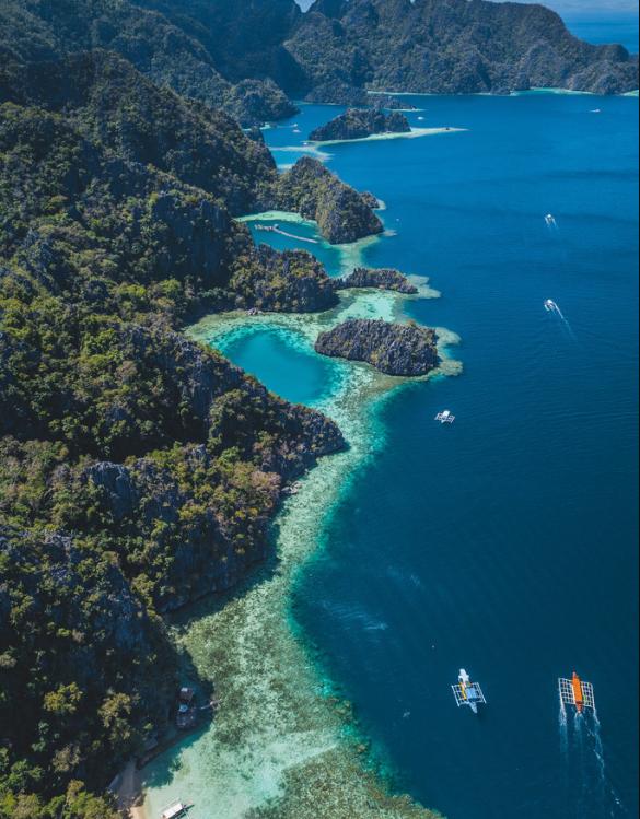 航拍菲律宾岛屿 绝美海岸线尽收眼底