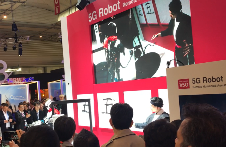MWC 2018:5G Robot现场演示