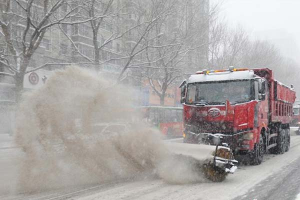 长春迎2018年最大降雪