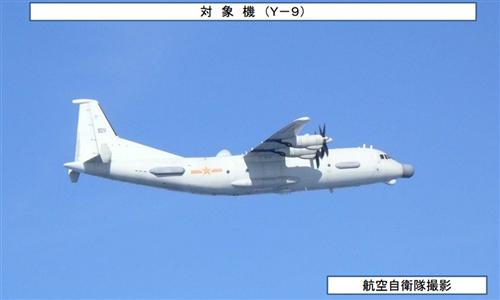 中国军机飞赴日本海 日本战机紧急起飞跟踪拍摄