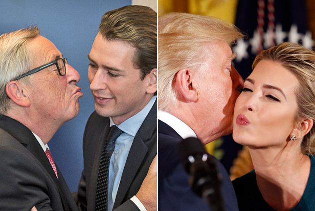 国际政要礼仪之吻!有人享受有人尴尬
