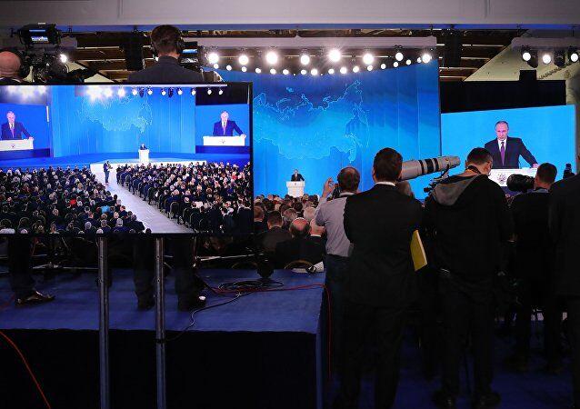 普京年度国情咨文:俄经受住社会和经济挑战,保障了国家团结