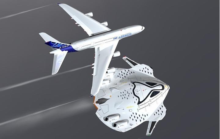 """概念飞机""""大鸟""""问世:实现零排放 酷似太空飞船"""