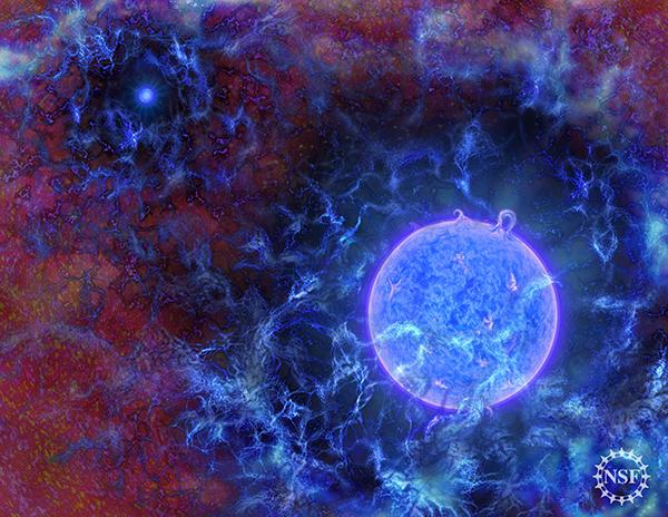 """什么时候开始有星星?科学家在""""收音机""""中听到答案"""