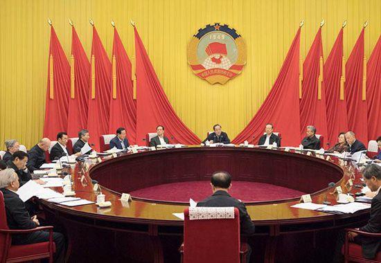 全国政协召开第七十一次主席会议 俞正声主持