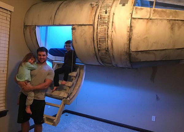 超有爱!美父亲为儿子建星球大战主题卧室