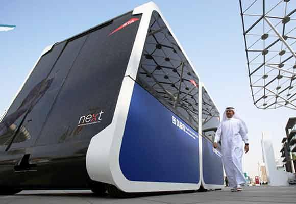 全球首辆无人驾驶出租车现迪拜 可携带十个乘客