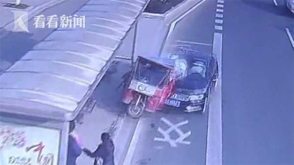 新手司机操作失误 高速冲进公交站台致1死3伤