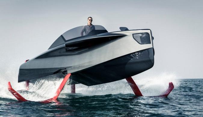 "Foiler""飞行游艇""是一款时尚的混合动力水翼艇"