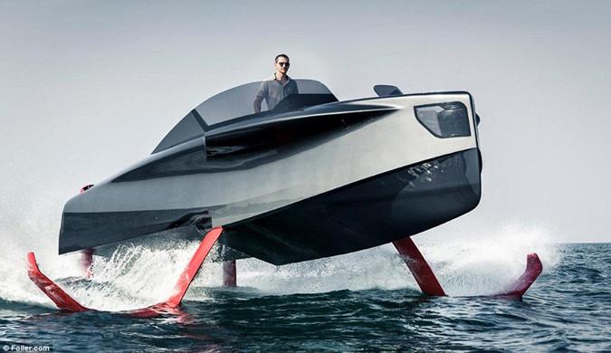 土豪的新玩具 可飞行的超级游艇Foiler问世