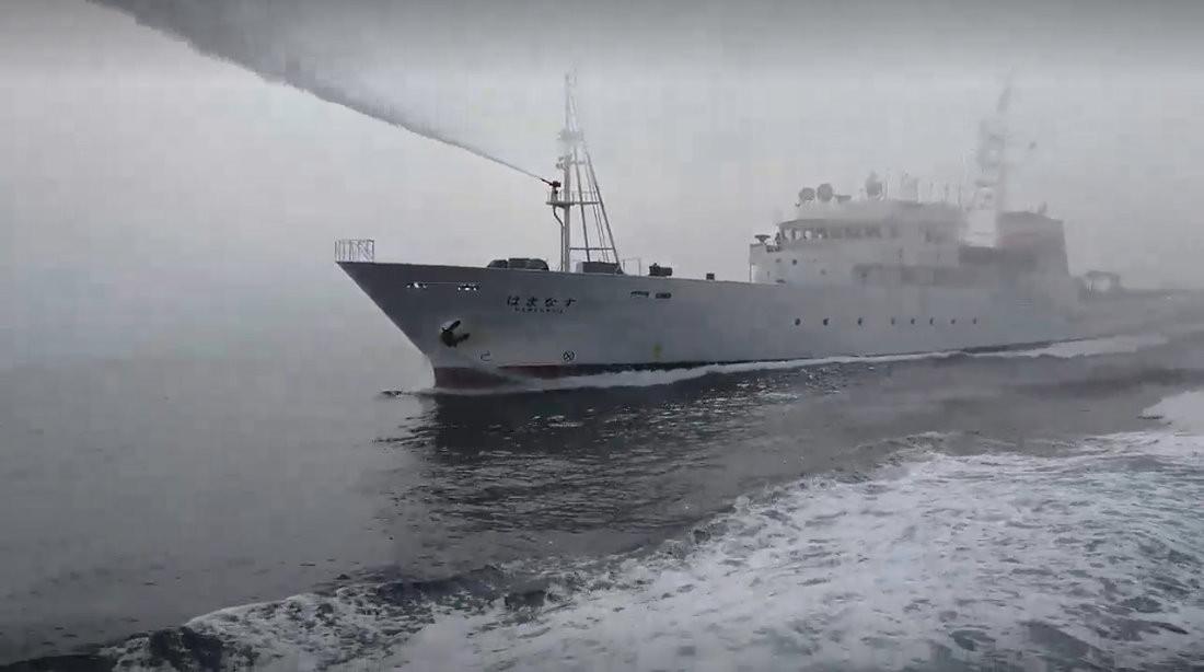 软爆了?台渔船遭日本公务船水炮驱离 蔡当局却要求己方先检讨