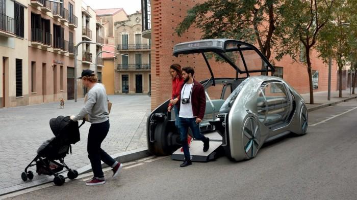 雷诺展示自动驾驶EZ-GO共享概念车 可搭载六名乘客