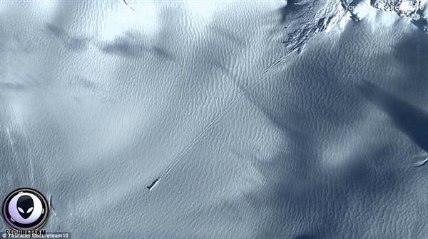 外星人UFO坠毁南极?谷歌地球发现惊人卫星图片
