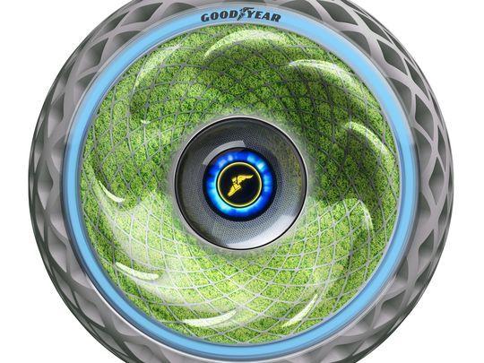 固特异发布Oxygene绿色概念轮胎 内壁长苔藓