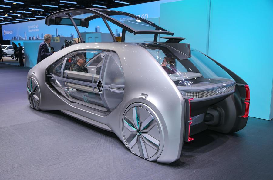 雷诺EZ-Go自动驾驶概念车亮相日内瓦 未来出租前瞻