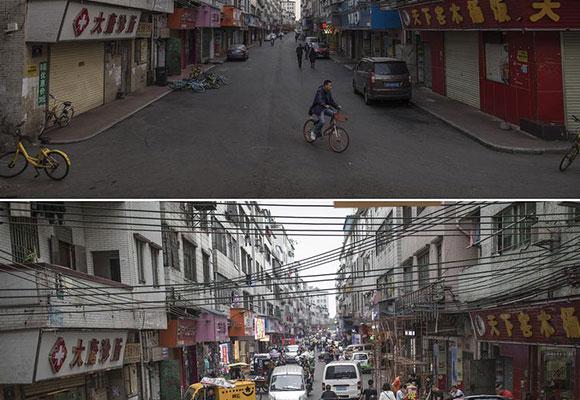 广州城中村春节前后对比 差别巨大