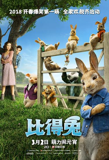 《比得兔》三八妇女节最适合带女性观看的电影
