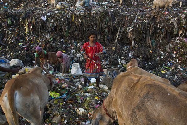 国际妇女节 印度女性垃圾堆中谋求生计