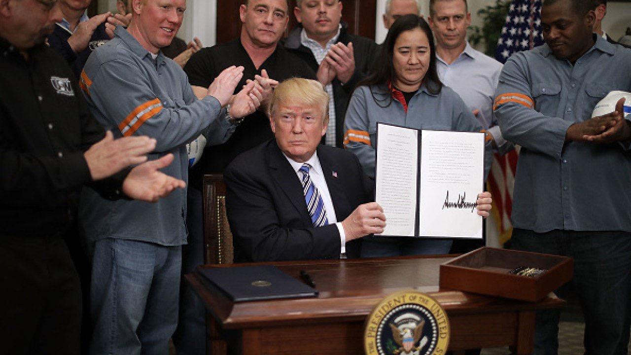快讯!实锤落地,特朗普正式决定对进口钢铝征收关税