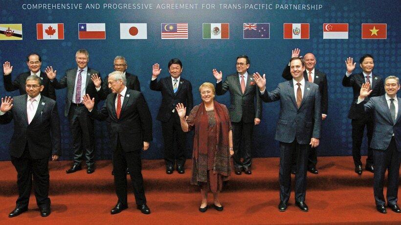 """不受美国退出影响 11国正式签署""""跨太平洋伙伴全面进展协定"""""""