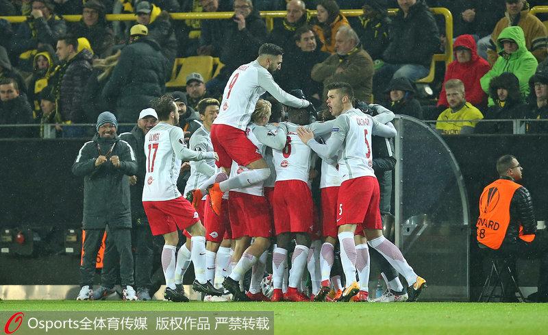 欧联-贝里沙梅开二度多特主场1-2负萨尔茨堡