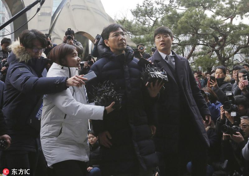 韩国涉性侵前地方高官主动到案 接受检方调查