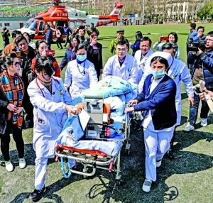 空中接力急救6岁病重男童 患儿家庭困难没掏一分钱