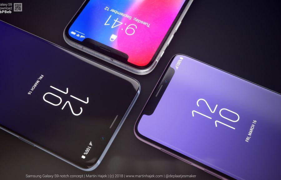 如果三星Galaxy S9采用刘海屏设计会怎么样?