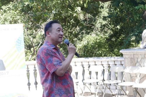 中国侨网林元清曾鼓励圣玛利诺市华人出来投票。(美国《世界日报》记者李雪/摄影)