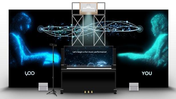 """雅马哈展示AI钢琴系统:能与人类""""完美""""二重奏"""