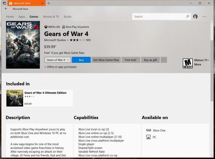CODEX团队宣布破解《战争机器4》Win 10 UWP版