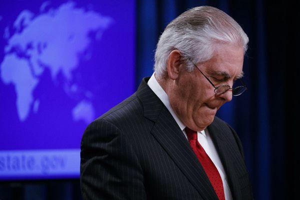 美国务卿蒂勒森被解职发表离职声明 与特朗普不和已非秘密