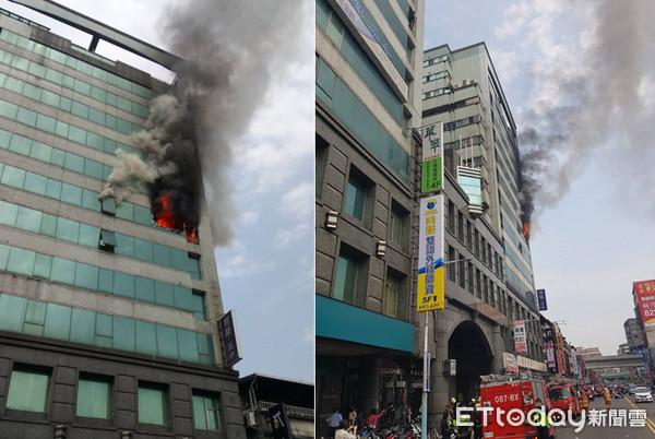 新北板桥传高楼火警! 消防云梯从9楼救出1位民众