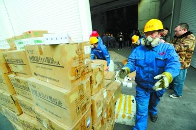 北京集中销毁六万盒假药千余瓶假酒