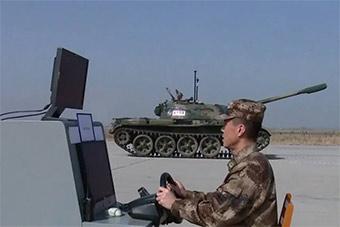 真实版坦克大战?疑似中国无人坦克曝光