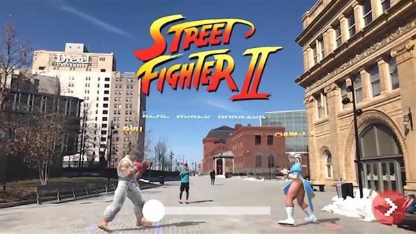 现实世界玩《街头霸王》 大街上搓波动拳超炫酷
