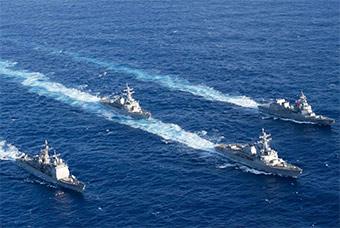 美日年度海上联合演习落幕 海上连射导弹