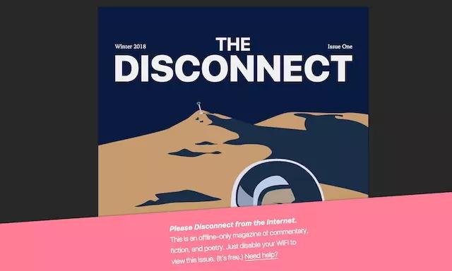 断了网才看得到 电子杂志想治疗现代人的网瘾