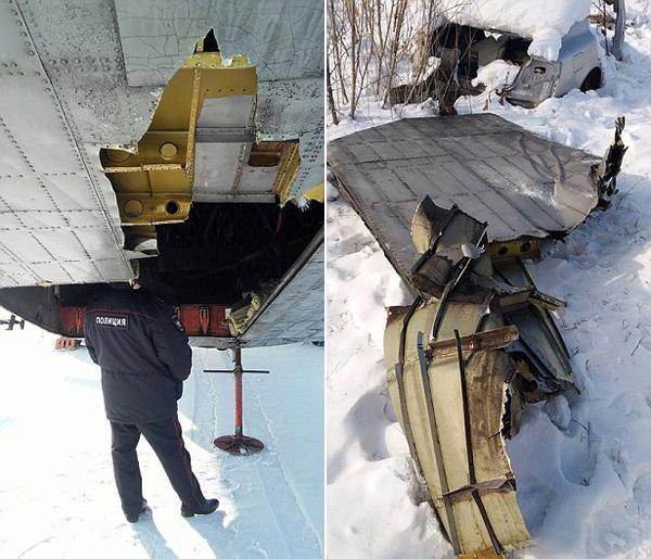 俄货机起飞时舱门掉落致巨额钻石黄金撒满地