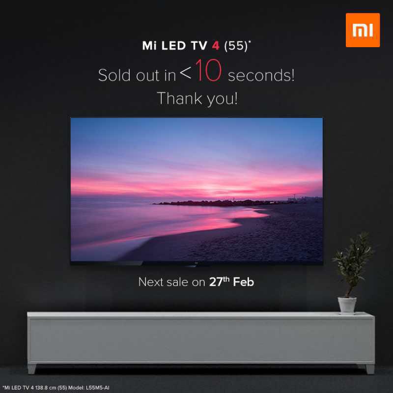 印度经济时报:只要一年!小米电视将成为印度线上第一电视品牌
