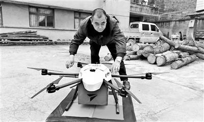 无人机邮递员现身贵阳山区5个山村自备电池接力