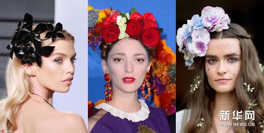 风情万种花朵发饰 让你的春天与众不同