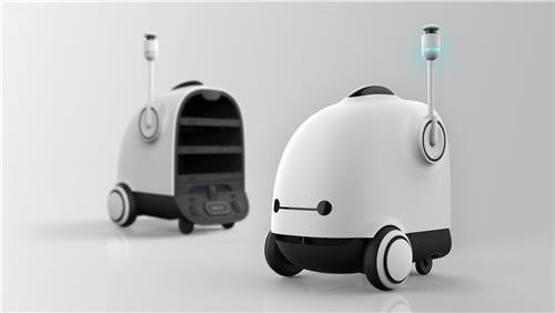 韩国开发送餐机器人 可代替服务员回收餐盘